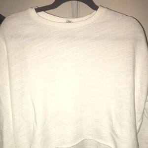 White sweaters crop top